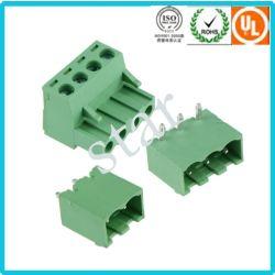 Custom 5,08 мм с возможностью изменения угла наклона 3 контактный зеленый блок печатных плат