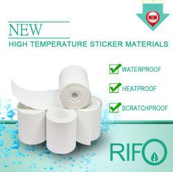 Le Pet des étiquettes adhésives, haute résistance thermique d'étiquettes, autocollant de code QR de papier personnalisé