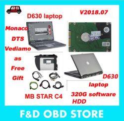 V2018.07 DTS MB Star connecter SD compact de 4 avec le logiciel du disque dur de 320 g Xentry+Das+EPC+Wis MB Star C4 avec un ordinateur portable D630 en stock DHL libre