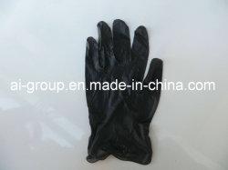 黒く使い捨て可能な力の美および入れ墨のための自由なビニールの手袋