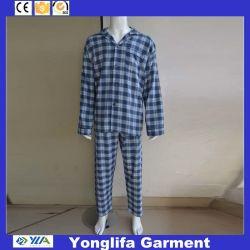 Men's pur coton fils teints pyjamas de flanelle