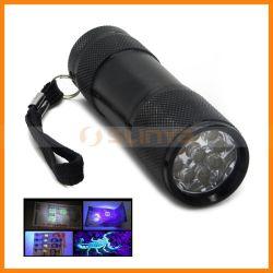 De mini 3W 365nm UVDetector UVPenlight van het Geld van de Toorts