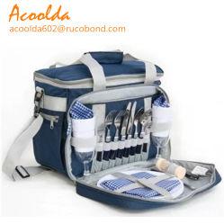 Riemen Polyerter Picknick-gesetzter Beutel mit vorderer Tischbesteck-Tasche