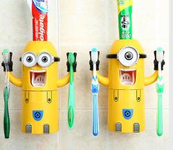 Aniversário promocionais presentes para crianças / Funny Minions dispensador automático de pasta de dentes