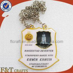 Custom металлический логотип Смещение печати на медаль с эпоксидной