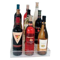 Suporte de monitor de vinho acrílico Titular, claro, 3 Tier, para 9 garrafas de vinho acrílico Display, vinho de acrílico caixa de exibição