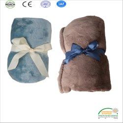 極度のかわいい空色純粋なカラーフランネルの羊毛毛布110*140cm