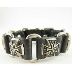 Um estilo mais recente homens bracelete de metal com cintilantes Rose