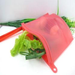 100% Grau Alimentício conservante de silicone com Novo Design saco de arrumação de estanqueidade de alimentos