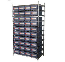 Almacenamiento en estanterías de estantes de alambre de metal utilizado en Warhouse y garaje