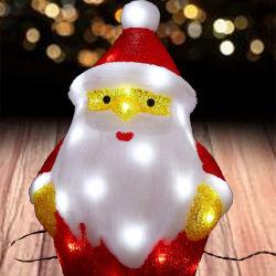 Рождественские украшения лампа Санта-Клаус 3D-акриловый освещение