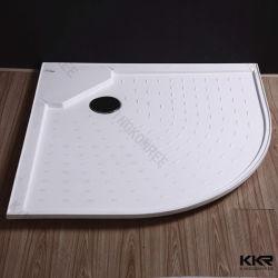 Het witte Kunstmatige Dienblad van de Douche van de Badkamers van de Steen van de Hars van de Steen