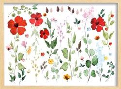 Pared botánico arte en madera y Panel de madera