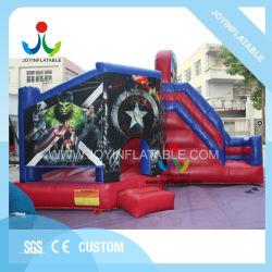 Красный прыжком коврик надувной слайд Bouncer для детей