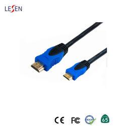 OEM Hoge snelheid 3m Goud Geplateerde HDMI aan Min Kabel HDMI