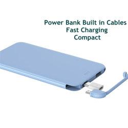 8000mAh Banco de potencia de carga rápida rt0502 construido en el cable micro USB y adaptador