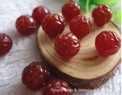 Agate rouge sculpté de pierres précieuses Perles pour la fabrication de bijoux