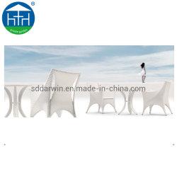 Патио стулья Стол обеденный зал в саду, Wood-Plastic мебель