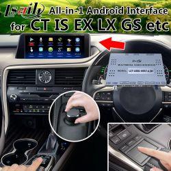 All-in-1 Plug&Play Android 6.0 GPS Navigator per 2010-2018 Lexus Nx Rx È es Lx GS con WiFi, Mirrorlink, Controllo mouse Originale
