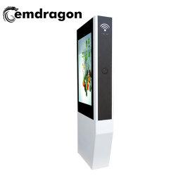 強調するAir-Cooled縦スクリーンの床機械を50インチの人間の特徴をもつタブレットLCDのタッチ画面LEDデジタルの表記のキオスクLCDデジタル表示装置バスTV広告する