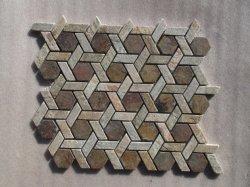 Chinesisches Natur-Schiefer-Mosaik-Stein-Muster für Wand-Dekoration-Fliesen