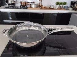 焦げ付き防止の中国の中華なべ、台所用品は、鍋、ステンレス鋼の調理器具、台所道具を炒める