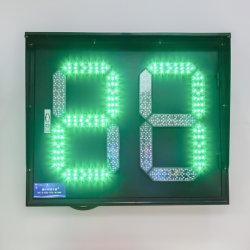 19 年工場高品質大型屋外用 2 桁 LED ( 2 桁) 交通信号カウントダウンタイマー