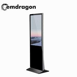 """جهاز العرض الرقمي 32""""43"""" 50""""55""""65"""" بوصة Super Slim Floor Standing Kiosk شاشة عرض LED لإعلانات Samsung TV لأفضل سعر"""