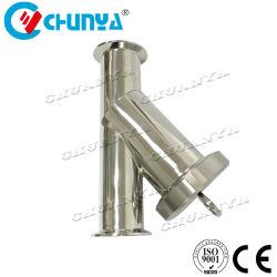 産業弁のこし器の衛生Yタイプステンレス鋼水フィルターハウジング