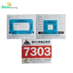 personalizado descartáveis Corrida Sport caso número impresso logotipo etiqueta RFID Bib/etiqueta RFID para a Maratona de distribuição em execução