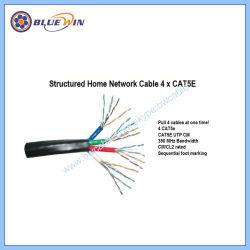 De gebundelde Kabel 4xcat5e van het Netwerk van het Huis en van het Bureau