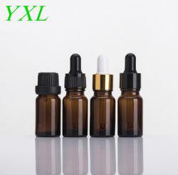 Huile essentielle 10ml Le flacon en verre flacon compte-gouttes en verre ambré de l'emballage cosmétique verre bouteille ambre
