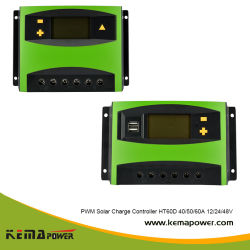 Controlador de carga solar MPPT de 12/24/48 VCC para alimentação Solar Sistema