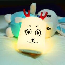 LED de silicone USB Animal Night Light Soft Cartoon bébé de changement de couleur de la lampe