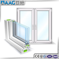 AD As2047 アルミニウムフレームスライディングガラス窓、蚊帳付き