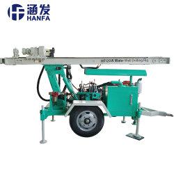 Hf120Wの高品質120mの携帯用井戸の掘削装置かトレーラーのタイプ井戸の装備