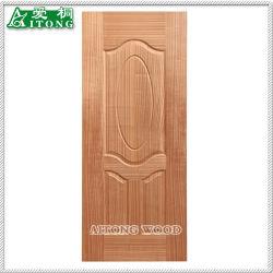Madeira contraplacada de MDF melamina folheado de madeira natural da pele da porta para decoração de interiores