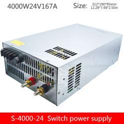 hohe Leistung 4000W Gleichstrom regelte die Stromversorgung Gleichstrom-24V ausgegebene einzelne Gruppe, die industrielle Stromversorgung S-4000-24V überwacht