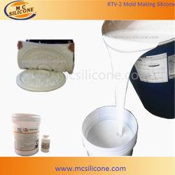 La condensation de guérir la fabrication de moules en caoutchouc de silicone RTV2 liquide pour la décoration de gypse