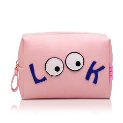 Sacchetto cosmetico/borsa della chiusura lampo quadrata della ragazza del fumetto