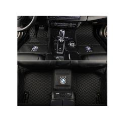 Черный кожаный чехол Car ножной мат Full Surround для Toyota