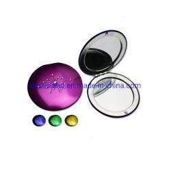 Pocket Metall Kristall Dekoration Compact Spiegel