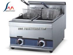 2 Korb-Gas-Bratpfanne des Becken-2, Gas-Chip-Bratpfanne-Chip-Bratpfanne, 25L