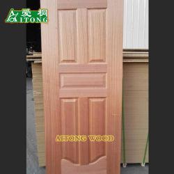 2,7 mm 3mm teck naturel Sapeli /Chêne rouge// placage frêne face HDF moulé de la peau de porte
