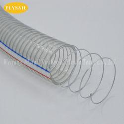 Tubo di rinforzo di plastica del tubo del filo di acciaio del PVC del tubo flessibile di pressione di Heavey per la polvere dell'olio dell'acqua che vuota fabbrica in Cina