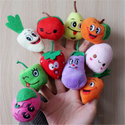 Benutzerdefinierte Plüsch Gefüllte Obst & Gemüse Finger Puppet