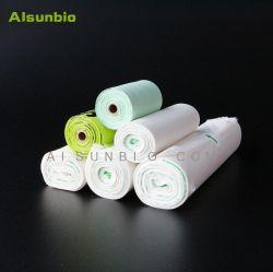 Venda por grosso de 100% saco plástico biodegradável Sacolas biodegradáveis compostável saco de lixo sacos de amido de milho Pbat/PLA ASTM6400/EN13432 Bolsas Biodegradables