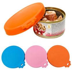 Le silicone chien chat Chapeau supérieur du stockage housse réutilisable écope d'alimentation Kit alimentaire peut l'étain