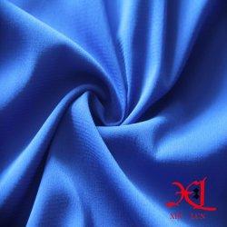 98%2%spandex polyester robe en mousseline de colorant tissu ordinaire