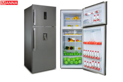 450L no Frost con doble puerta Top-Mounted frigorífico con dispensador de agua